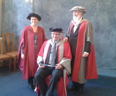 2015 - With Professors Julie Coleman and Gordon Campbell DLitt Leicester.jpg